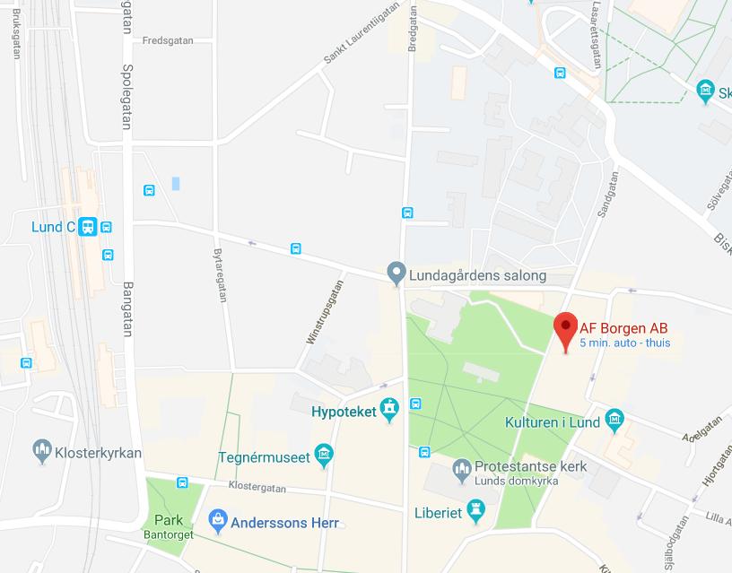 Map for seminar venue location
