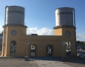 Facade of Pescara bus terminal