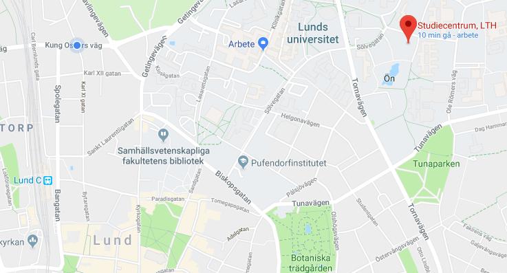 Map for student workshop venue
