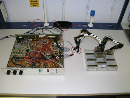 A KIT1 EIT measurement system with the manual multiplexer.