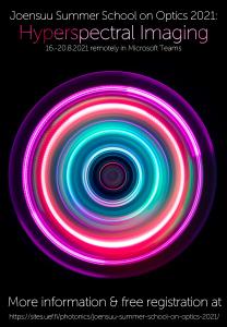 Poster for Joensuu Summer School on Optics 2021