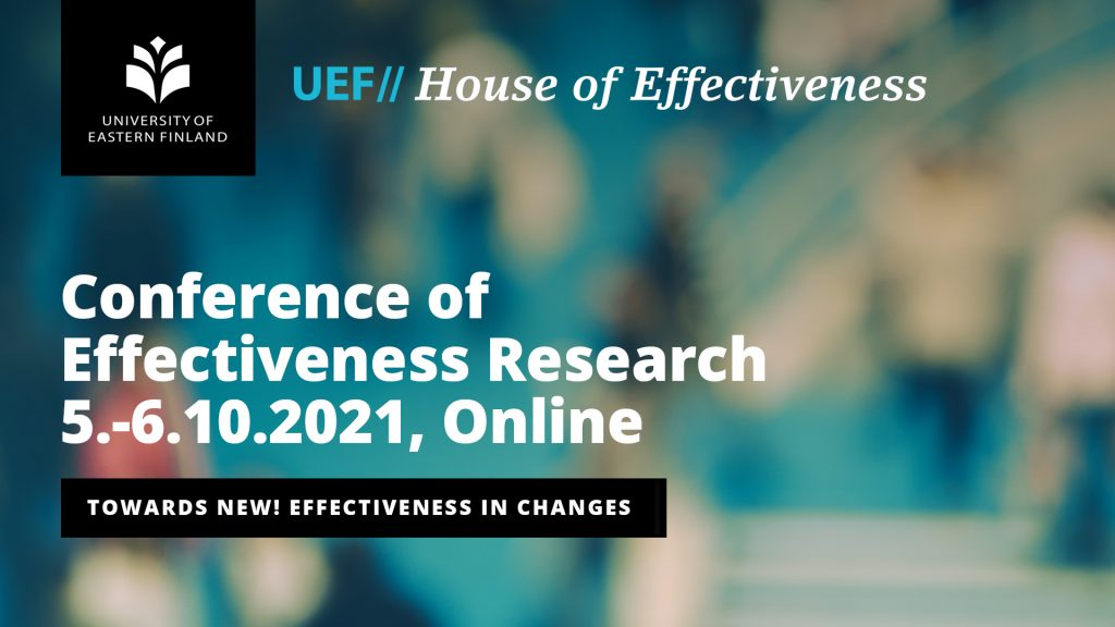 Conference of effectiveness research 5.-6.10.2021, Online. Towards nre - effectiveness in changes.